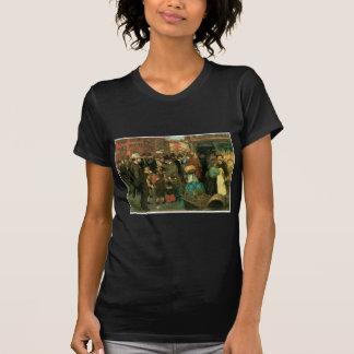 Escena de la calle, calle de Hester, Nueva York C. Camisas