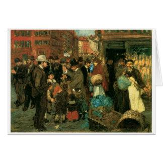 Escena de la calle, calle de Hester, Nueva York C. Tarjeta De Felicitación