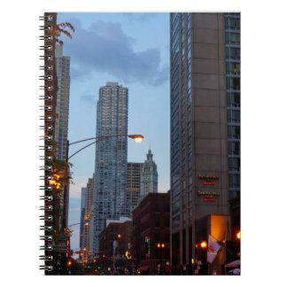 Escena de la calle de Chicago Cuaderno