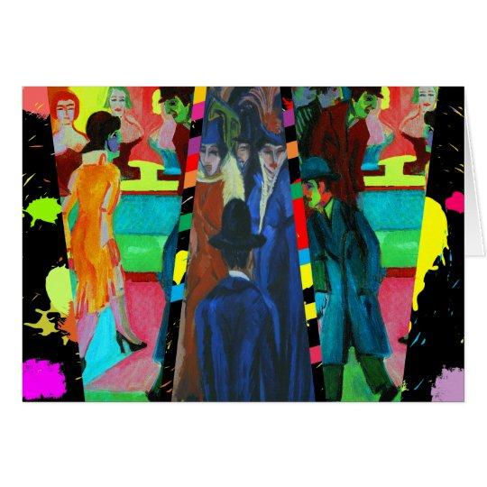 Escena de la calle de Ernst Ludwig Kirchner Tarjeta De Felicitación