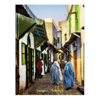 Escena de la calle del vintage de Tánger, Postal