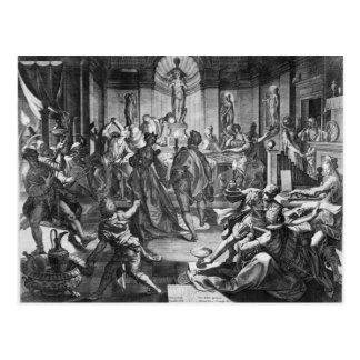 Escena de la celebración, 1588 postal