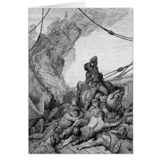 """Escena """"de la escarcha del marino antiguo"""" 3 tarjeta de felicitación"""