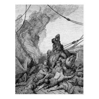 Escena de la escarcha del marino antiguo 3 tarjeta postal
