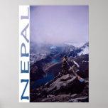Escena de la montaña de Nepal Poster