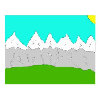 Escena de la montaña postal