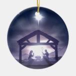 Escena de la natividad del pesebre del navidad adorno para reyes