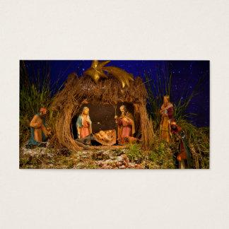 Escena de la natividad tarjeta de negocios
