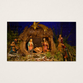 Escena de la natividad tarjeta de visita