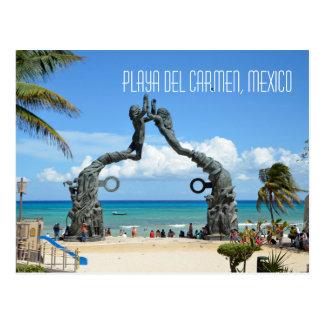 Escena de la playa del mar del Caribe del Playa Postal