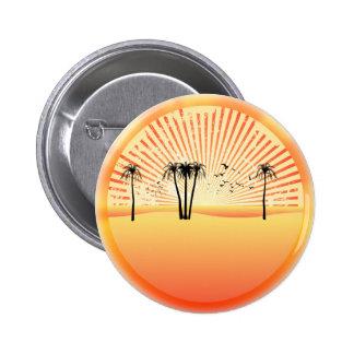 Escena de la playa del verano: Dibujo del vector Pins