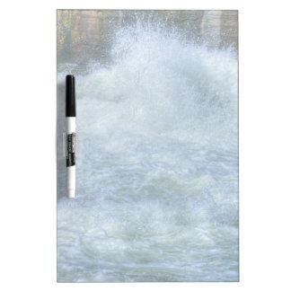 Escena de precipitación de la naturaleza del río d tablero blanco
