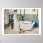 Escena del cuarto de baño - Lisbeth, pub. en 'Lass Póster