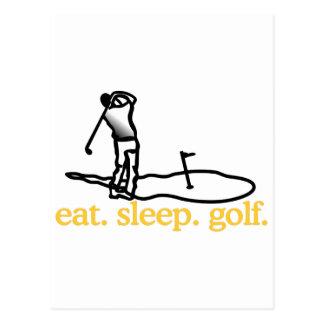 Escena del golf postal
