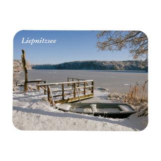 Escena del invierno de Liepnitzsee Imán Flexible