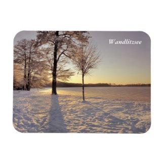 Escena del invierno de Wandlitzsee Imán Flexible