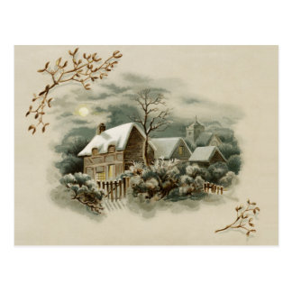 Escena del invierno del Victorian Postal