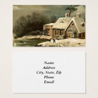 Escena del invierno del vintage tarjeta de visita