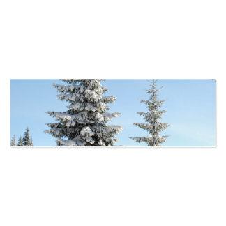 Escena del invierno Nevado con los árboles de Tarjetas De Visita Mini