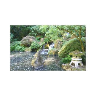 Escena del jardín japonés impresión en lona