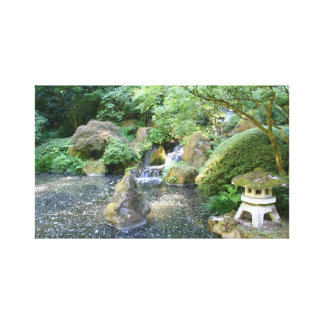 Escena del jardín japonés lona estirada galerias