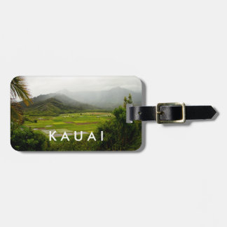 Escena del paisaje de Kauai, Hawaii Etiqueta Para Maletas