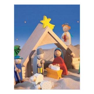 Escena del pesebre del navidad folleto 21,6 x 28 cm