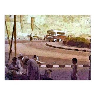 Escena egipcia de la calle postales