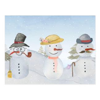 Escena escarchada de la nieve del invierno del postal