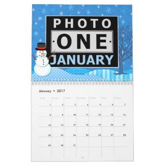 Escena estacional del personalizado 2018 fáciles calendarios