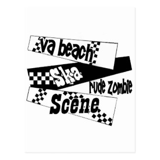 Escena grosera del ska del zombi postal