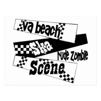 Escena grosera del ska del zombi postales