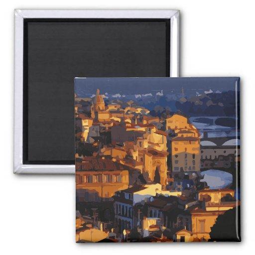 Escena magnífica de la puesta del sol de Florencia Imán De Nevera