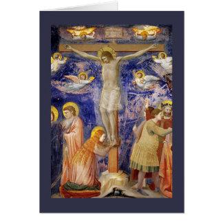 Escena medieval del Viernes Santo Tarjeta De Felicitación