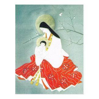 Escena oriental, Maria y Jesús de la natividad Postal