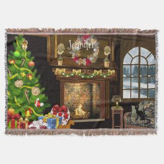 Escena personalizada del navidad manta