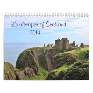 Escenas de Escocia: Tierra, lago y mar 2014 Calendario De Pared