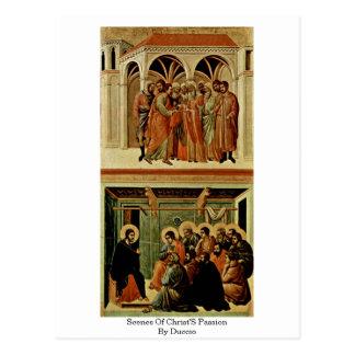 Escenas de la pasión de Cristo por Duccio Postal