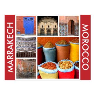 escenas de Marrakesh Marruecos Postal