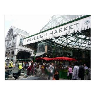Escenas inglesas, mercado de la ciudad, Londres Postal