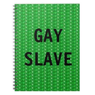 Esclavo del gay del cuaderno
