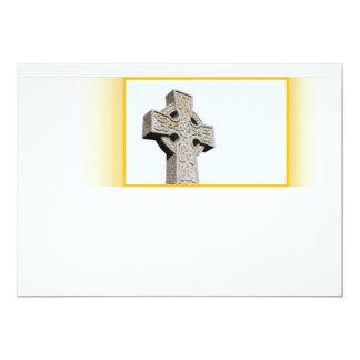 Escocés-Boda-Céltico-Cruz Invitación 12,7 X 17,8 Cm