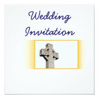 Escocés-Boda-Céltico-Cruz Invitación 13,3 Cm X 13,3cm
