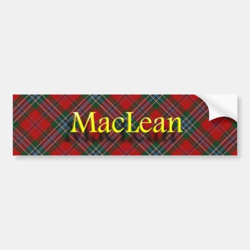 Escocés de MacLean del clan Pegatina De Parachoque