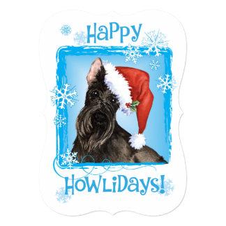 Escocés feliz Terrier de Howlidays Invitación 12,7 X 17,8 Cm