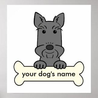 Escocés personalizado Terrier Póster