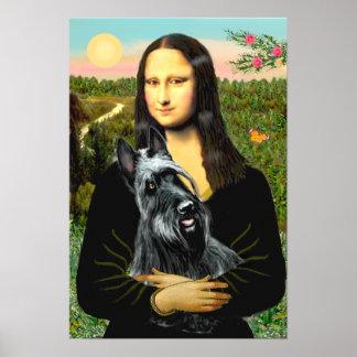 Escocés Terrier 3 - Mona Lisa Póster