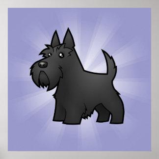 Escocés Terrier del dibujo animado Póster