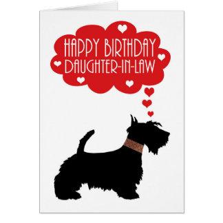Escocés Terrier Silhouett del cumpleaños del Tarjeta De Felicitación