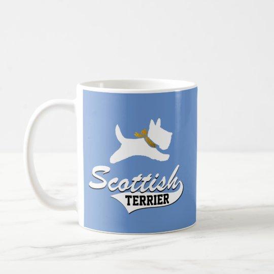 Escocés Terrier su color de fondo Taza De Café